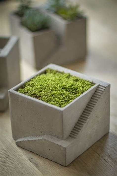Architectural Planter by Cement Architectural Plant Cube Planter I Mothology