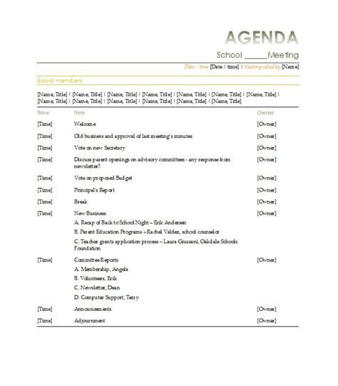 effective meeting minutes template 51 effective meeting agenda templates free template