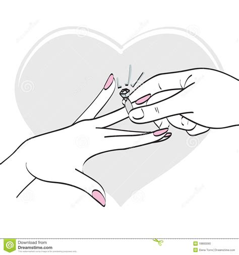 Wedding Ring Exchange Clipart by Wedding Ring Stock Illustration Illustration Of