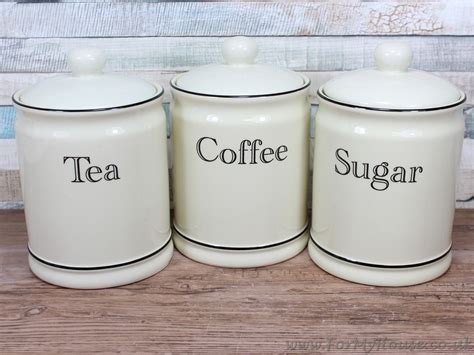 ceramic tea coffee sugar canister kitchen storage