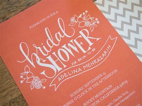 citrus themed wedding invitations citrus bridal shower invitation