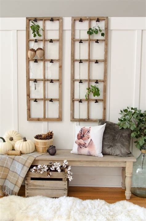 rustic fall decorating and kirkland s giveaway home - Fall Entryway Decor
