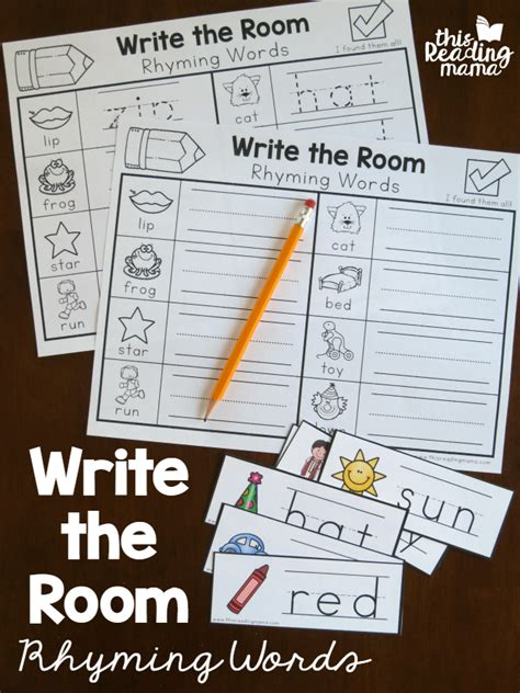 write the room write the room rhyming words this reading
