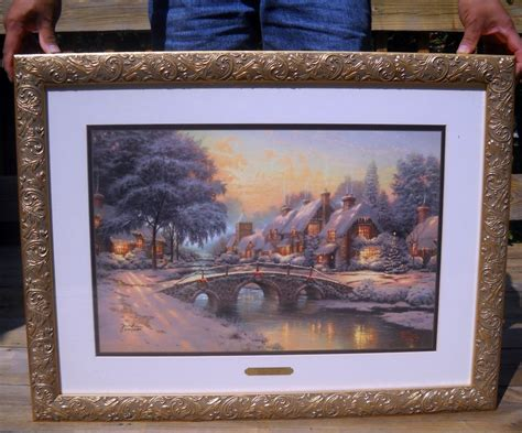 Matted Artwork by Cobblestone By Kinkade 22 5 X 29 Framed