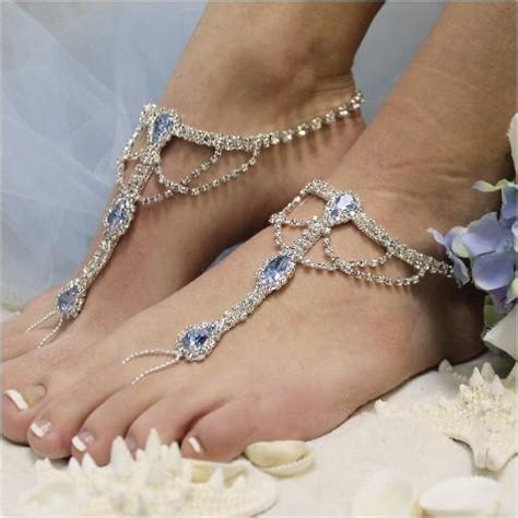 Blue Wedding Sandals For by Something Blue Barefoot Sandals Silver Blue Wedding
