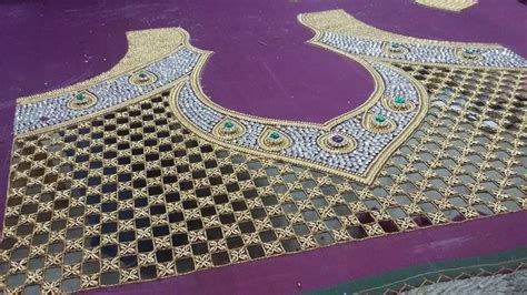 avs pattern works coimbatore cut work zari amd kundan embroidery for a saree blouse