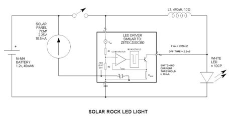 Solar Light Schematic Solar Led Schematic Diagram Solar Get Free Image About