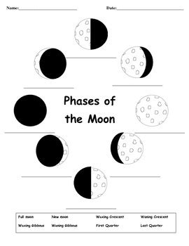 printable quiz on phases of the moon phases of the moon test by learning with lendi tpt