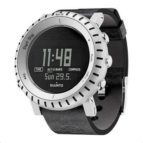 buy suunto alu black wrist top computer aluminum with leather buy watches