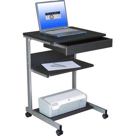 rolling desk storage techni mobili graphite rolling laptop desk with storage