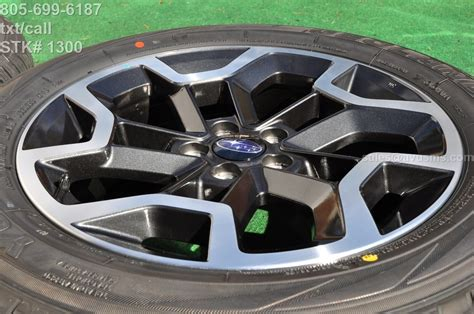subaru factory wheels 2017 subaru xv crosstrek oem 17 quot factory wheels yokohama