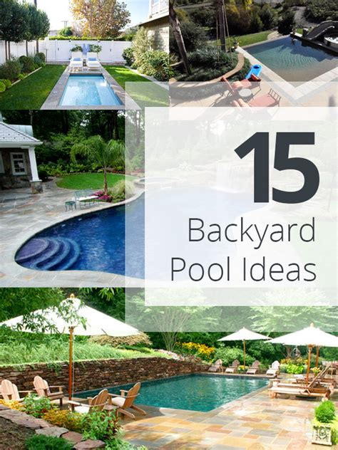 pool ideas for backyards 15 amazing backyard pool ideas home design lover