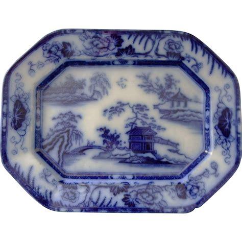 pattern maker hong kong flow blue ironstone platter in the hong kong pattern from
