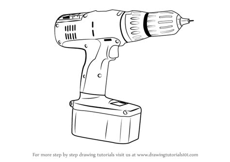 doodle how to make tools learn how to draw a drill machine tools step by step