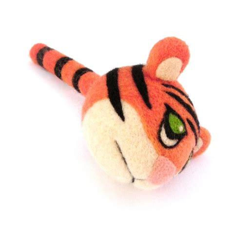 Handmade Felt Toys - needle felted tiger handmade felt toys