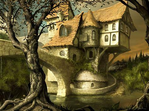 fantasy houses bridges inn fantasy stuff inspiration fantasy landscape