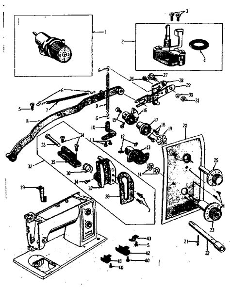 kenmore sewing machine parts diagram zigzag guide assembly diagram parts list for model