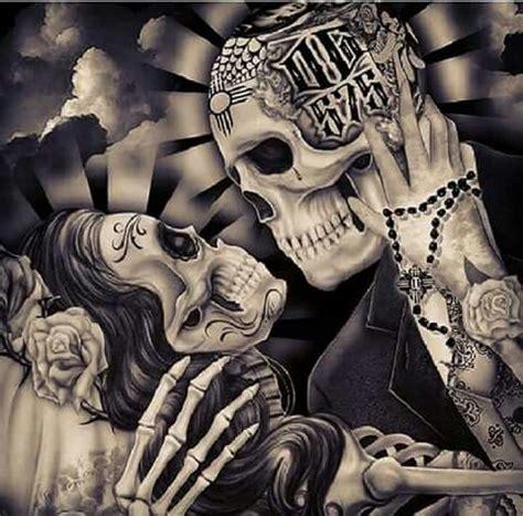 imagenes de calaveras besandose no me conoces 0 ideas pinterest tattoo chicano and