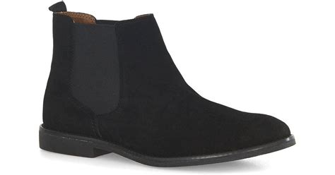 topman black faux suede chelsea boots in black for lyst