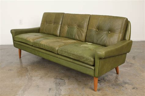 mobler sofa tufted leather sofa by skipper mobler at 1stdibs