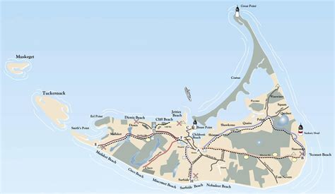 nantucket map tourist map of nantucket island nantucket massachusetts mappery