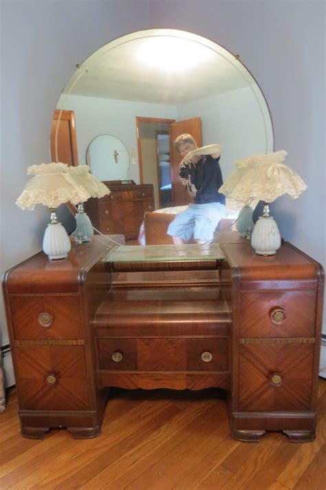 antique vanity ornate depression era furniture triple mirror bedroom set my antique furniture collection