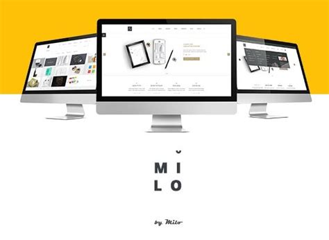 free milo business website template psd titanui