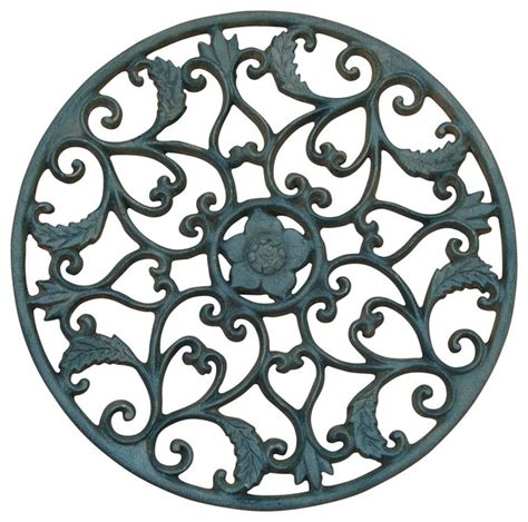 Wrought Iron Ceiling Medallions by Open Leaf Medallion Wrought Iron Traditional Ceiling