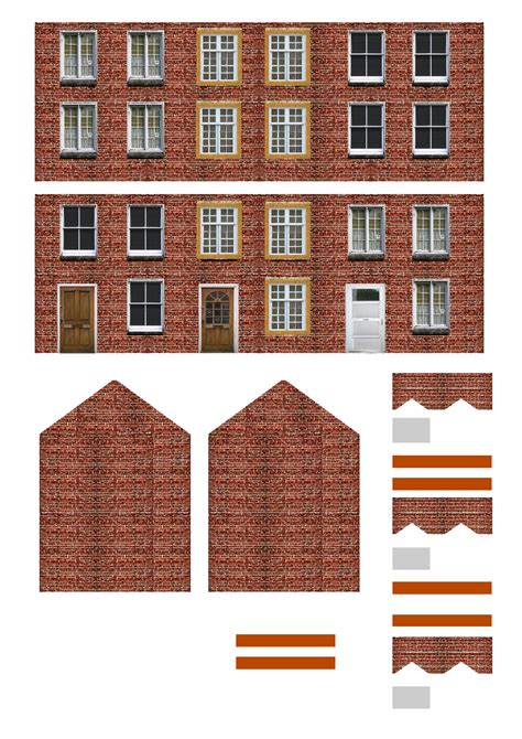 Printable N Gauge Buildings Printable 360 Degree Free Building Templates