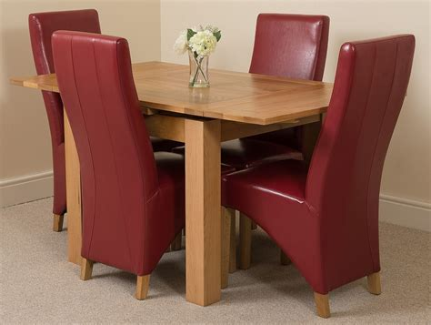 richmond small extending solid oak dining table and 4