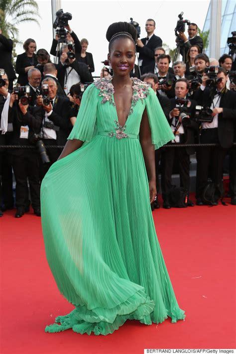Lupita Dress lupita nyong o slays in a plunging green dress at the