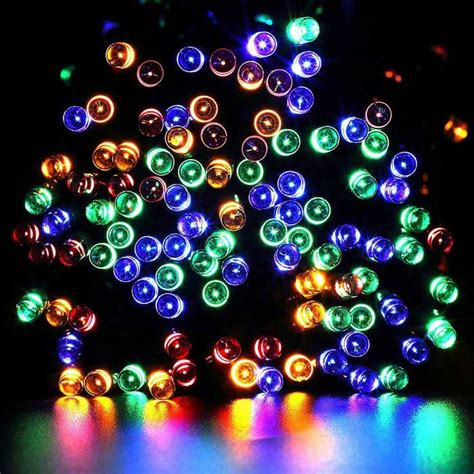 Solar Powered Twinkle Lights by Solar Powered Decorative Twinkle Multi Color Led Light