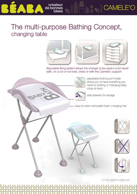 changing table sheet beaba camele o change table