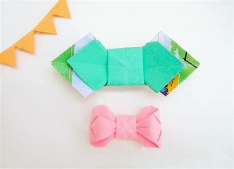 Bowtie Origami - diy paper folding origami bow tie tutorial packaging