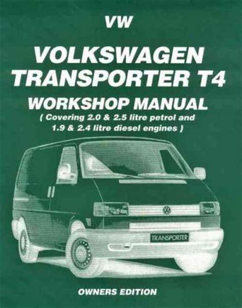 online auto repair manual 1990 volkswagen type 2 auto manual volkswagen vw transporter t4 petrol diesel 1990 1995 brooklands books ltd uk sagin workshop