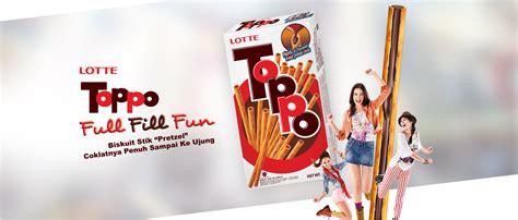 Lotte Toppo Pretzel Chocolate lotte indonesia toppo