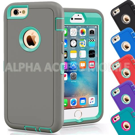 protective hybrid shockproof cover for apple iphone 6 6s 4 7 5 5 quot plus ebay