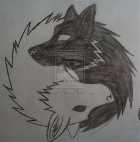 yin yang wolf tattoo yin yang wolves tattoos yin yang wolf and