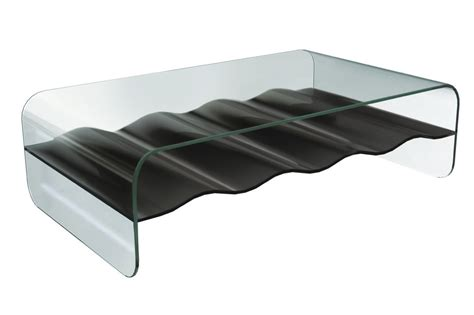 Glass Rectangle Coffee Table Wave Rectangular Glass Coffee Table