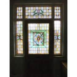 stained glass front door sd034 edwardian original 3 panel exterior door