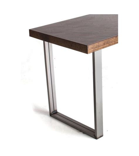 bar height table legs rect stock steel pair