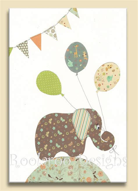 Elephant Wall Decor For Nursery Nursery Decor Baby Elephant Wall Print Baby Boy