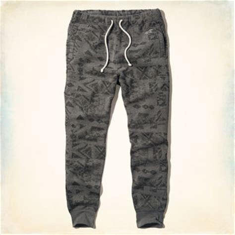 pattern fleece joggers hollister pattern fleece jogger pants from hollister co