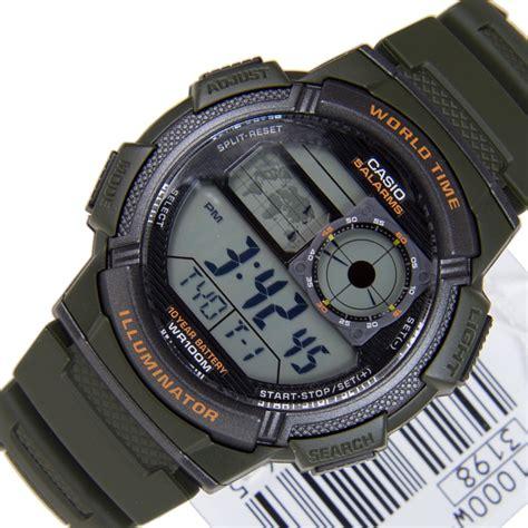 Spesial Promo Casio Ae 1000w 1a Original 1 casio quartz 5 alarms ae 1000w 3avdf