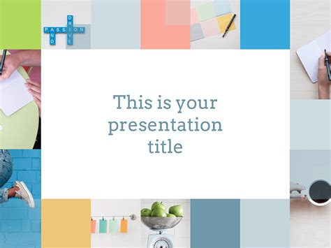 free presentation template fresh clean and professional