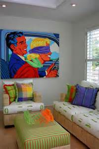Bright Kitchen Rugs Contemporary Pop Art Contemporary Living Room