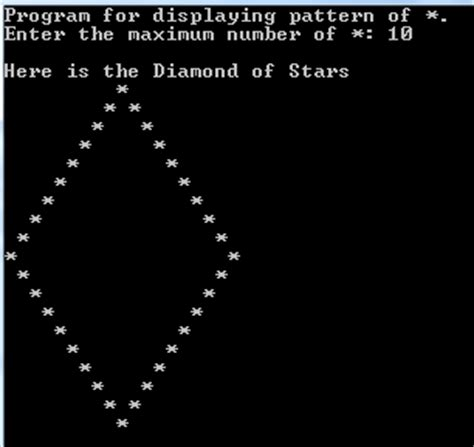 Pattern In Turbo C | turbo c c build outline diamond pattern of