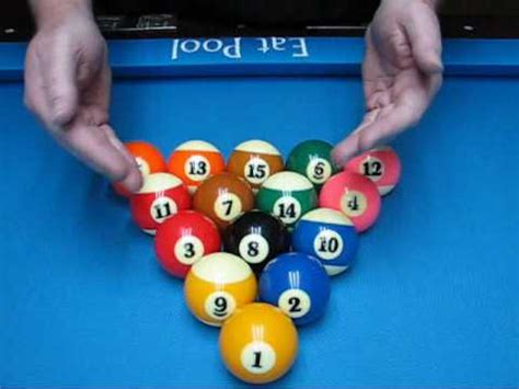 Racking Pool Balls Properly by Mathematical 8ball Rack