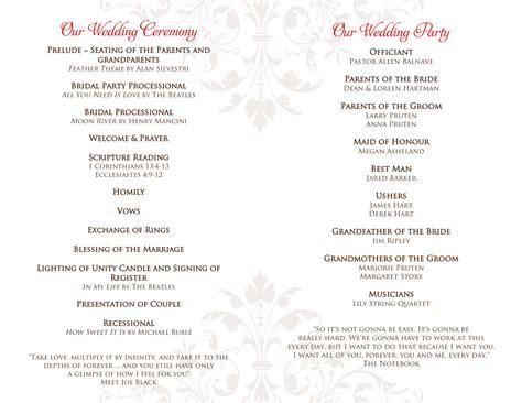 wedding programs hotcvblog