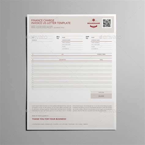 Finance Charge Notification Letter finance charge us letter template by keboto graphicriver
